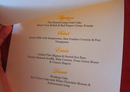 wedding menus and programs 060