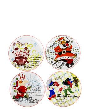 rosanna retro christmas plates
