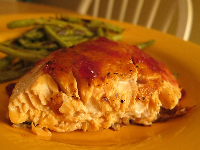 Salmon with Raspberry Glaze - Peanut Butter Fingers