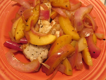 pork peaches onion 008