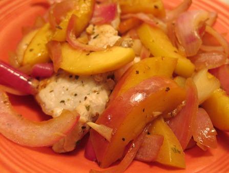 pork peaches onion 009