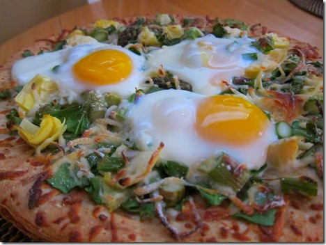 egg topped pizza 009