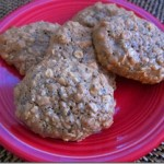 healthy peanut butter oatmeal cookies 001