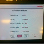 interval workout stats