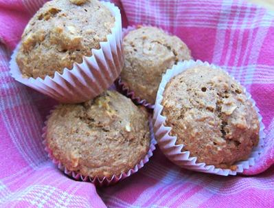 oatmeal banana flax muffins 004