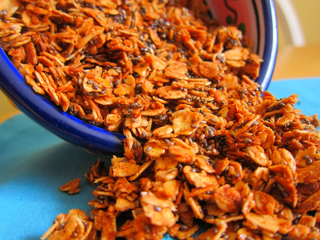 Cinnamon Chia Seed Granola | Peanut Butter Fingers