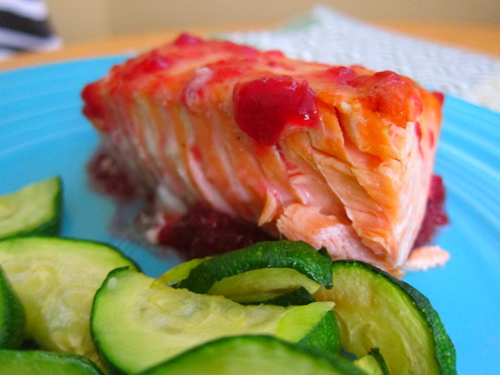 To make simple salmon, I start by setting the oven to broil.