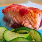 raspberry glazed salmon 004