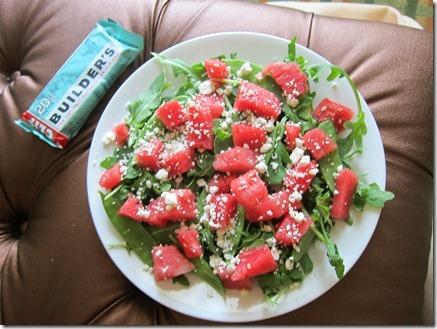 feta watermelon arugula salad 001
