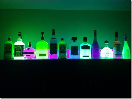 glow in the dark liquor bottles