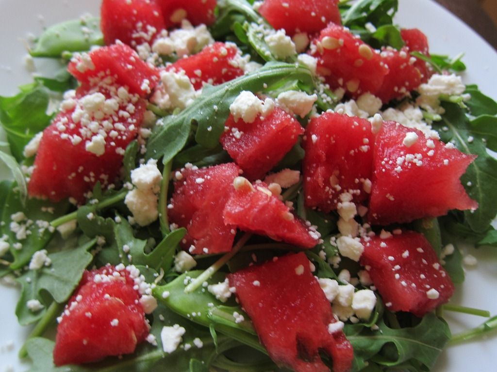 watermelon salad with feta and toasted almonds watermelon and feta ...