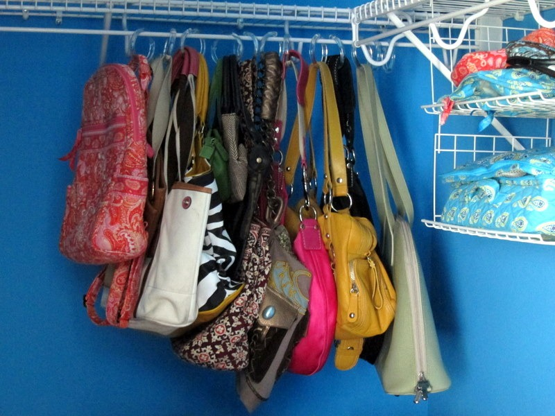 Storing purses peanut butter fingers - How to hang bags in closet ...