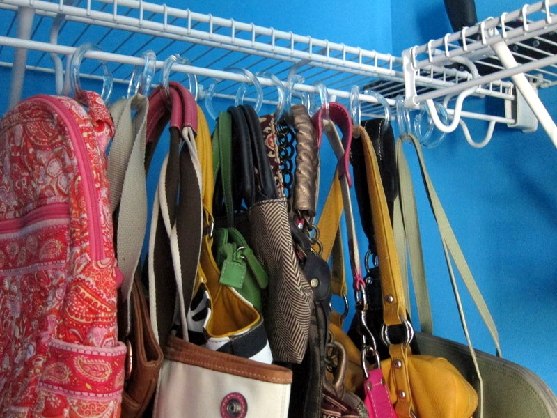 Hanging Purses With Shower Curtain Holders 010