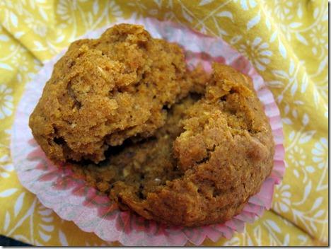 pumpkin oatmeal muffins 044