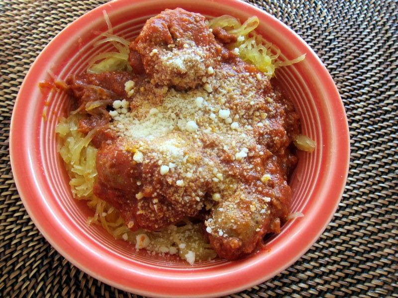 spaghetti squash with marinara sauce 001