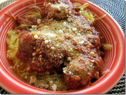 spaghetti squash with marinara sauce 004