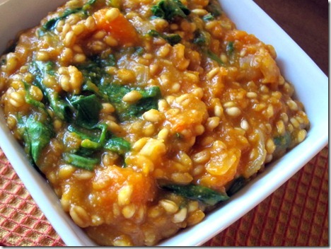 butternut squash wheat berry risotto 002