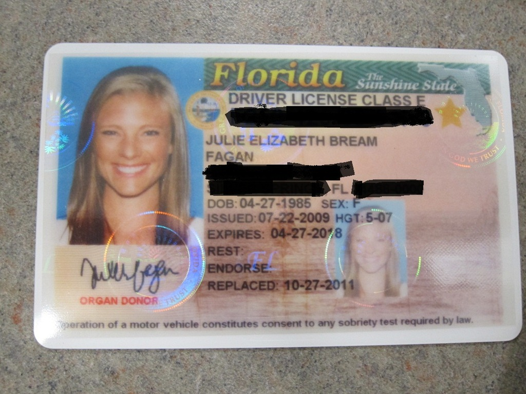 My florida drivers license