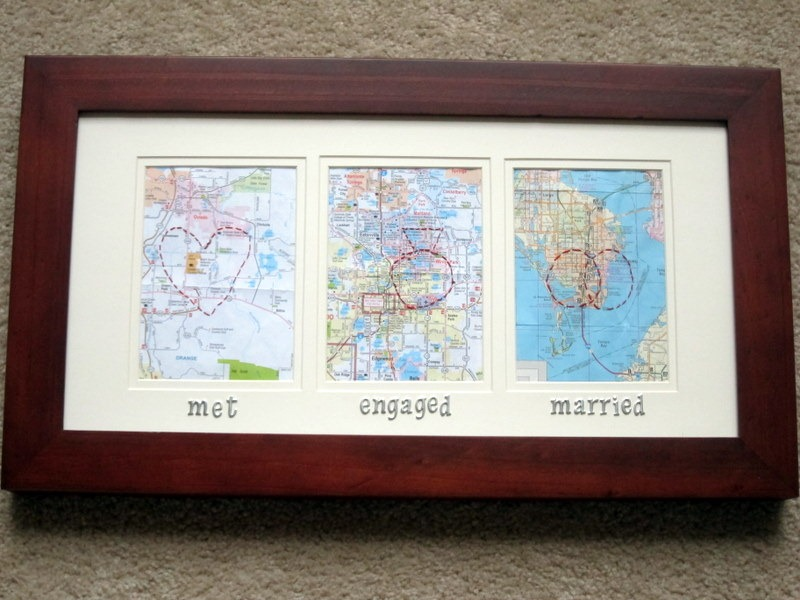1 Year Anniversary Wedding Gift Ideas : got the idea for this gift from this image that I saw on Pinterest :