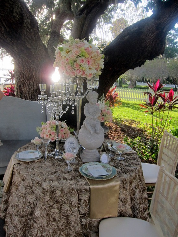 MMD Designs set up a gorgeous table ceremony site and wedding cake and