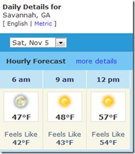 savannah forecast