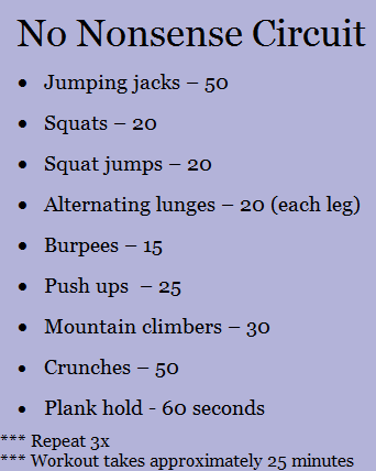 At Home Workouts - Peanut Butter Fingers