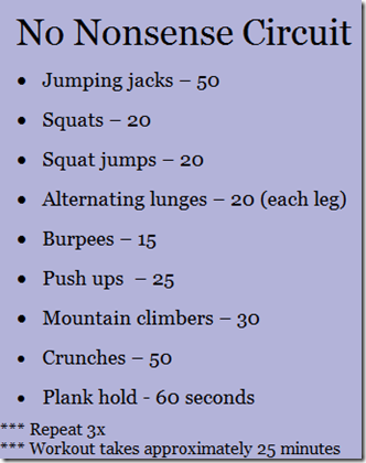No Nonsense Circuit Workout