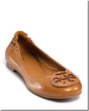 tory burch reva flats tan