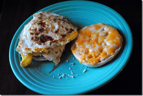 egg sandwich english muffin 026