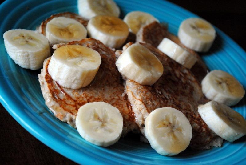 made myself a plate of strawberry banana Greek yogurt pancakes by ...