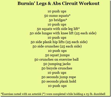 legs and abs circuit