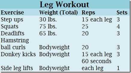leg workout