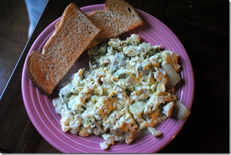 scrambled eggs with artichoke 028