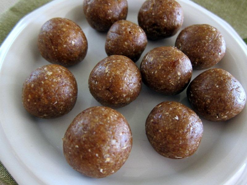 Walnut Oatmeal Date Balls