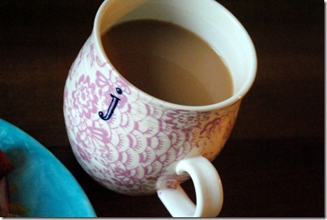 anthropologie initial mug