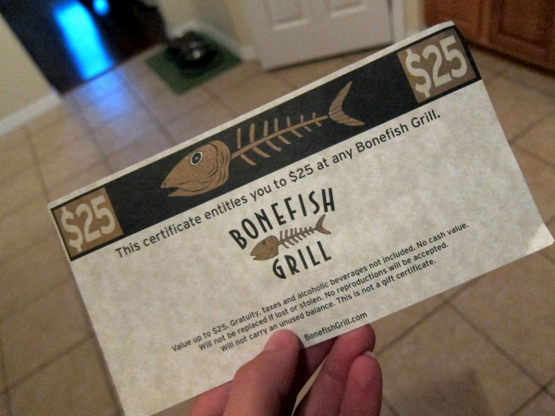 Dinner at Bonefish Grill + Giveaway - Peanut Butter Fingers