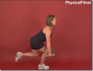 dumbbell one legged squat