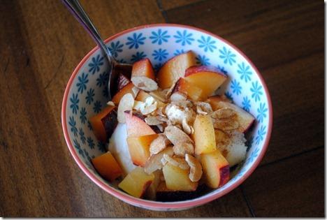 ricotta plums almonds
