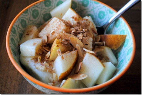 ricotta with pears