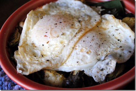 roasted vegetables with eggs 006