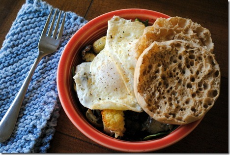 roasted vegetables with eggs 009