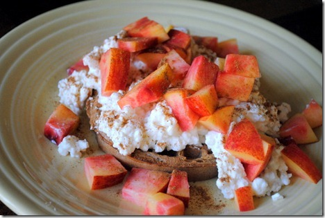 waffle with cottage cheese and fruit