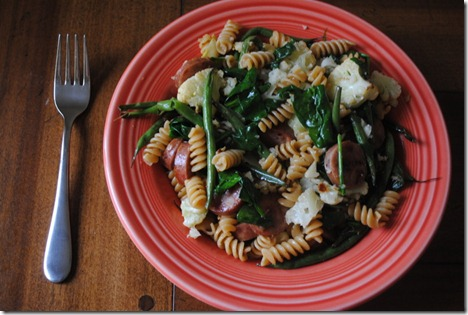 whole wheat rotini with chicken sausage
