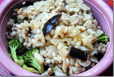 barley eggplant broccoli risotto