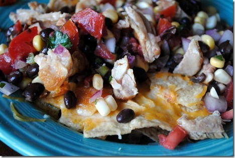 nachos cheese salsa chicken