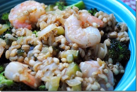 shrimp barley risotto