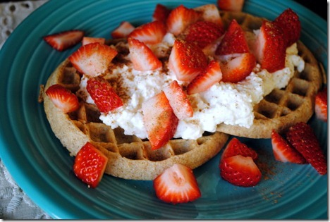waffles with cottage cheese