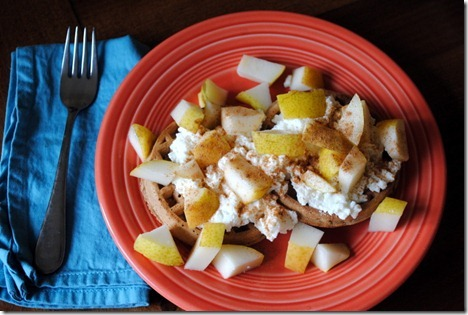 waffles with pear and ricotta 007
