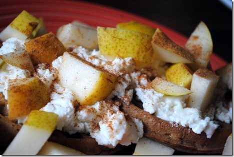 waffles with pear and ricotta 010