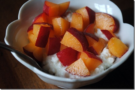 apricot with cottage cheese